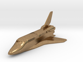 Space Shuttle spacecraft in Natural Brass