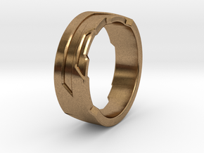 Ring Size Z in Natural Brass