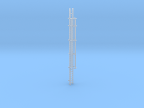 'HO Scale' - 30' Caged Ladder in Smooth Fine Detail Plastic