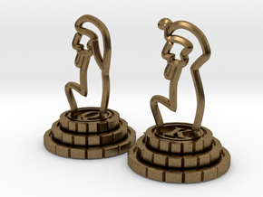 Chess set of Egypt(Q,K) in Natural Bronze