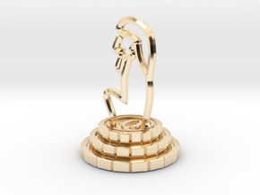 Queen of chess in 14K Yellow Gold