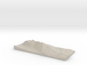 Model of Zwölferkopf in Natural Sandstone