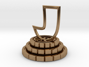 Rook of chess in Natural Brass