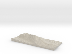 Model of Zwölferkopf in Sandstone