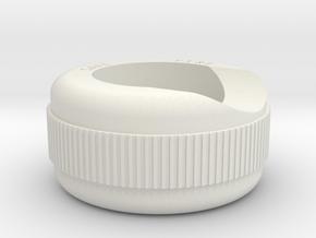 Gun Button Bezel MkI in White Natural Versatile Plastic