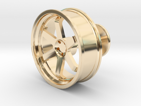TE37 Wheel Cufflink in 14K Yellow Gold