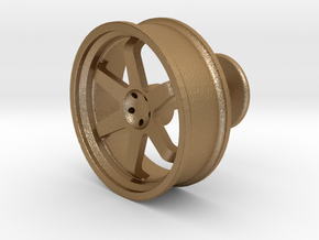 TE37 Wheel Cufflink in Matte Gold Steel