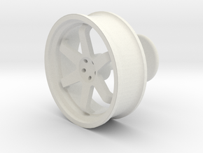 TE37 Wheel Cufflink in White Natural Versatile Plastic