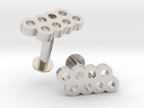 Hole Cufflink in Platinum