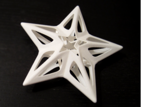 Big Star in White Processed Versatile Plastic