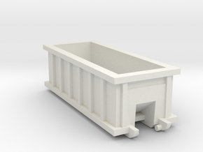 N Scale 20 FT X 8FT  Roll-off Dumpster  in White Strong & Flexible