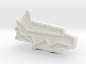 Ship #2 in White Natural Versatile Plastic