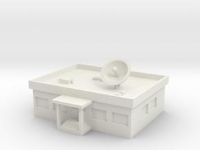 1/600 TV Station in White Natural Versatile Plastic
