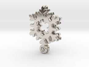 Small Snowflake Earrings in Platinum
