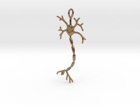 "Neuron Pendant (2.2"" high) in Natural Brass"