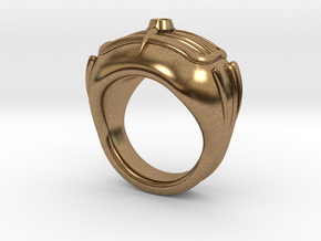 '50s Car Ring (22.2mm) in Natural Brass