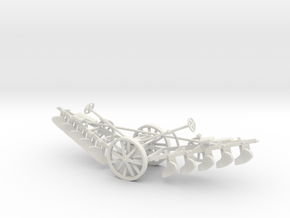 1005-2 Plough 1:43.5 O Scale in White Natural Versatile Plastic