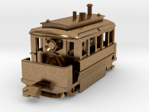 1001-3 Early Baldwin Steam Tram (Type B) 1:148 in Natural Brass