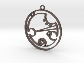 Deborah - Necklace in Polished Bronzed Silver Steel