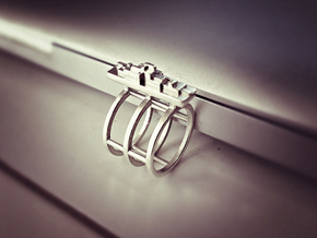 SKYLINE RING- SIZE 7 in Polished Silver