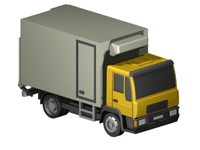Kühlkoffer-LKW / truck with cooler (Z, 1:220) in Smooth Fine Detail Plastic