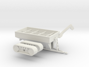 1:160/N-Scale Grain Cart On Tracks 1050 in White Natural Versatile Plastic