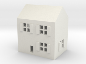 1/600 Town House 1 in White Natural Versatile Plastic