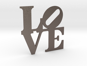 The Love Sculpture miniature in Polished Bronzed Silver Steel