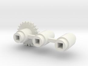 Split-frame Gears For Mainline OO locos. in White Natural Versatile Plastic