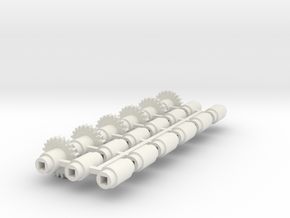 Split-frame Gears For Mainline OO locos. Block of  in White Natural Versatile Plastic