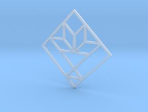 Cactus Basket Quilt Block Pendant in Smooth Fine Detail Plastic