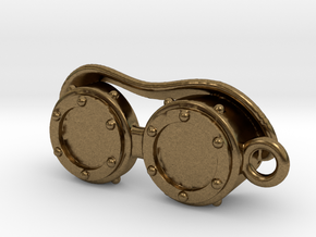Steampunk Goggles Charm/Pendant in Natural Bronze