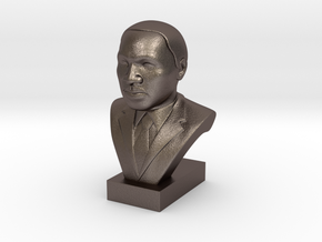 Martin Luther King Jr. in Polished Bronzed Silver Steel