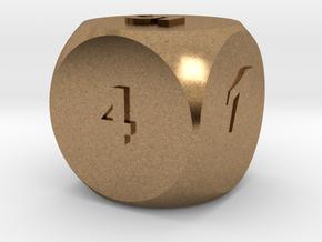 Multi-coloured Dice v1.0 in Natural Brass