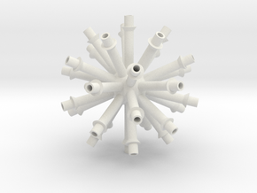 Gear Center V1 in White Natural Versatile Plastic