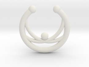 Faux Septum Ring - crisscross in White Natural Versatile Plastic