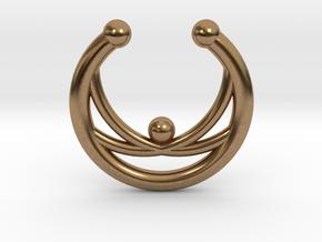 Faux Septum Ring - crisscross in Raw Brass