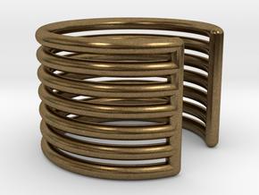Ear Cuff - rods in Natural Bronze