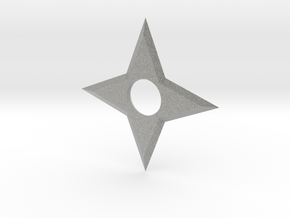 4 Point Ninja Star (shuriken) in Metallic Plastic