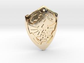 Hylian Shield - Legend of Zelda in 14K Yellow Gold