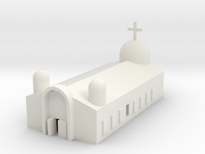 1/600 Church (Eastern Orthodox) in White Natural Versatile Plastic