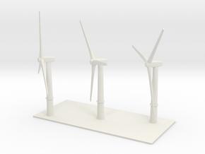 1/600 Wind Farm x3 Turbines in White Natural Versatile Plastic