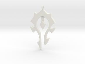 Horde Necklace - World Of Warcraft in White Natural Versatile Plastic
