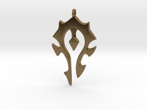 Horde Necklace - World Of Warcraft in Natural Bronze