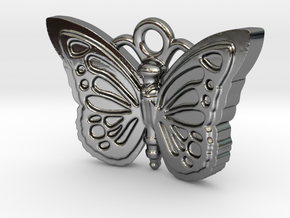 Butterfly in Fine Detail Polished Silver