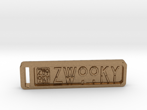 ZWOOKY Keyring 34 rounded 5cm 4.5mm in Natural Brass