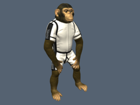 """HAM"" Chimp Mercury Astronaut (Figure 130mm) in White Strong & Flexible"