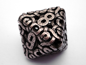 Ring Die8 in Polished Bronzed Silver Steel