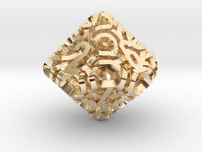 Ring d10 in 14K Yellow Gold