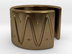 Ear Cuff - wave in Natural Bronze